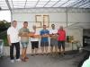 v.l.n.r.: Obmann Willi Steiner, Reinhard Fitz, Harald Dorner, Kurt Harm, Erich Prankl, Obmann Tennis Franz Wieser
